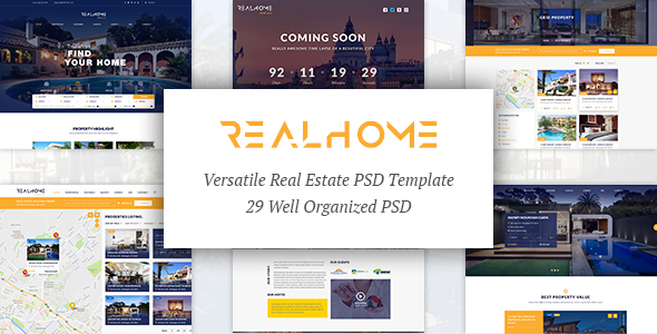 RealHome - Versatile Real Estate PSD Template - Business Corporate