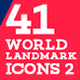 41 World Landmark Icons Bundle 2 - GraphicRiver Item for Sale