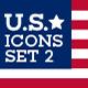 World Landmark Icons - Vol. 5 (U.S.A. Set 2) - GraphicRiver Item for Sale