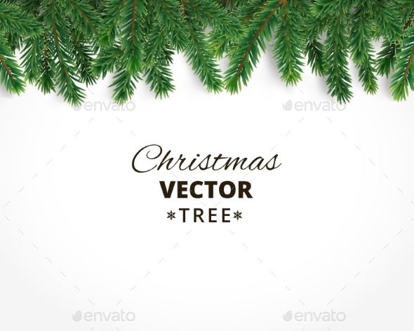 background with vector christmas tree branches christmas seasonsholidays - Christmas Tree Branches