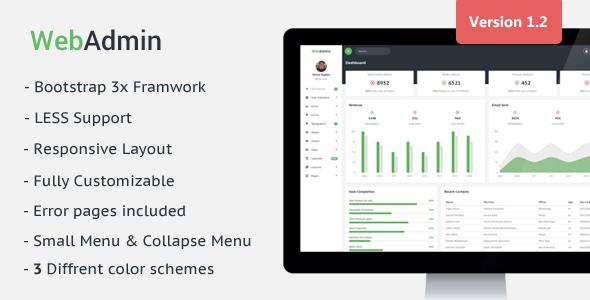 Webadmin - Responsive Admin Dashboard Template