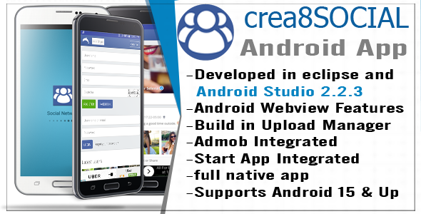 Crea8social Android Template App - CodeCanyon Item for Sale