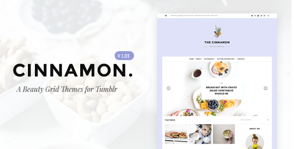 Cinnamon | Casual Grid Tumblr Theme