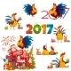 Happy New Year 2017 Banner with Santa Claus - GraphicRiver Item for Sale