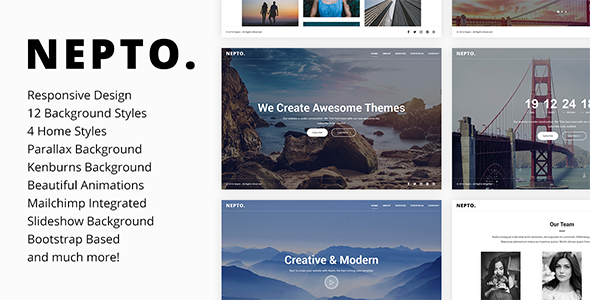 Nepto - Responsive Coming Soon Template - Under Construction Specialty Pages