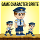 Policeman Sprite Character - GraphicRiver Item for Sale