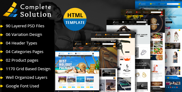 Complete Solution - Multipurpose eCommerce Html Template - Site Templates