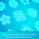 Christmas Neon Snowflakes - GraphicRiver Item for Sale