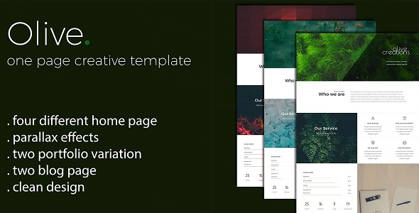 Olive - One Page Multi Purpose Template - Creative Site Templates