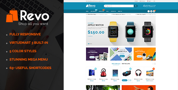 Revo – Multipurpose eCommerce VirtueMart 3 Joomla Template
