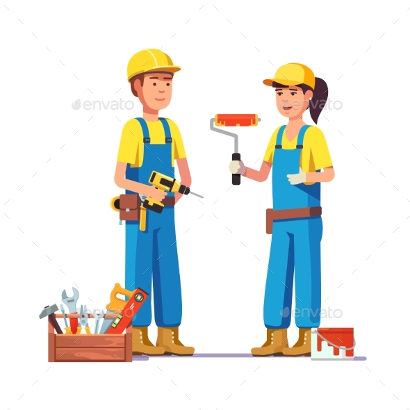 Workers in Uniform - People Characters
