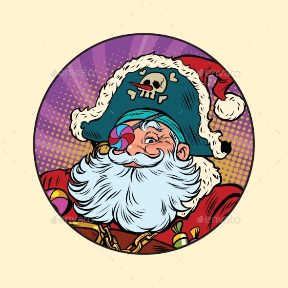 Santa Claus Pirate - People Characters