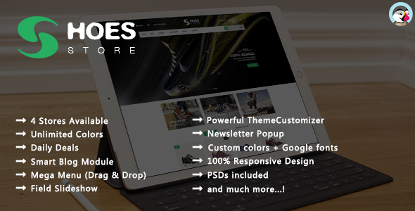 Shoes Store – Responsive Prestashop Theme