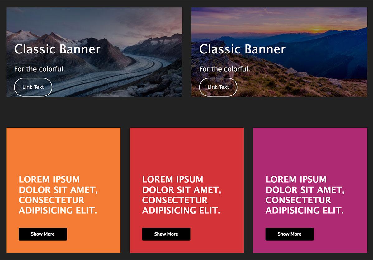 Visual Banners Creativity Banners