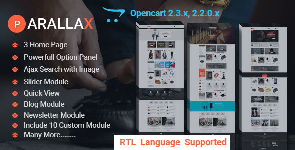 Prallax-Multipurpose OpenCart Template - Shopping OpenCart