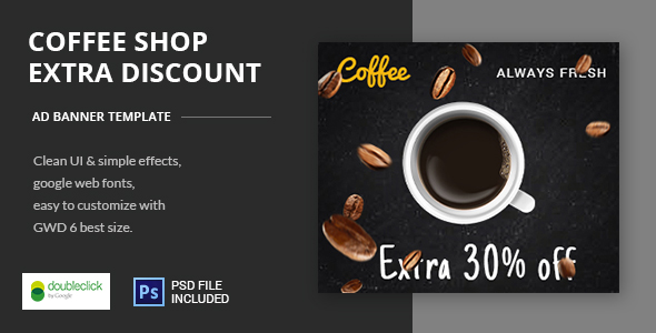 Coffee Shop | HTML5 Banner Template - CodeCanyon Item for Sale