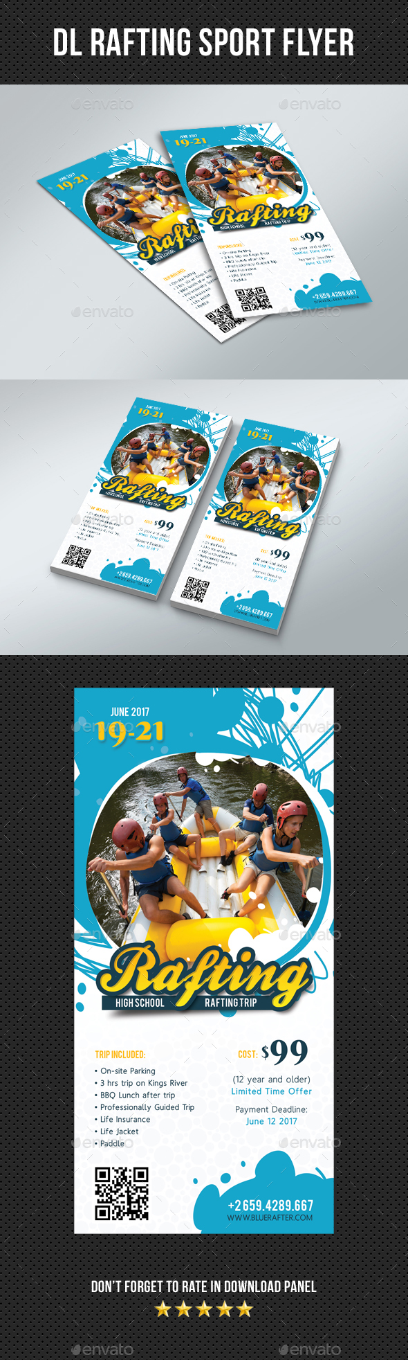 DL Rafting Flyer V1 - Sports Events