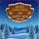 Christmas Background with Banner - GraphicRiver Item for Sale