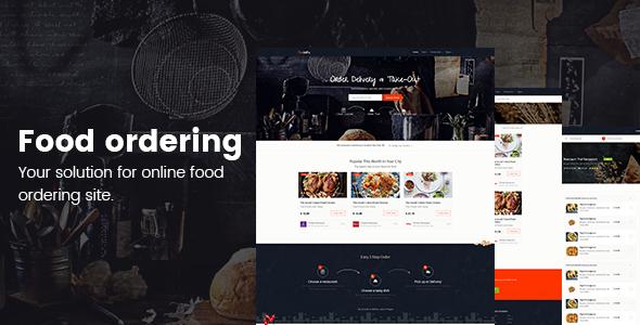 Online food ordering from local restaurants - Restaurants directory - Site Templates