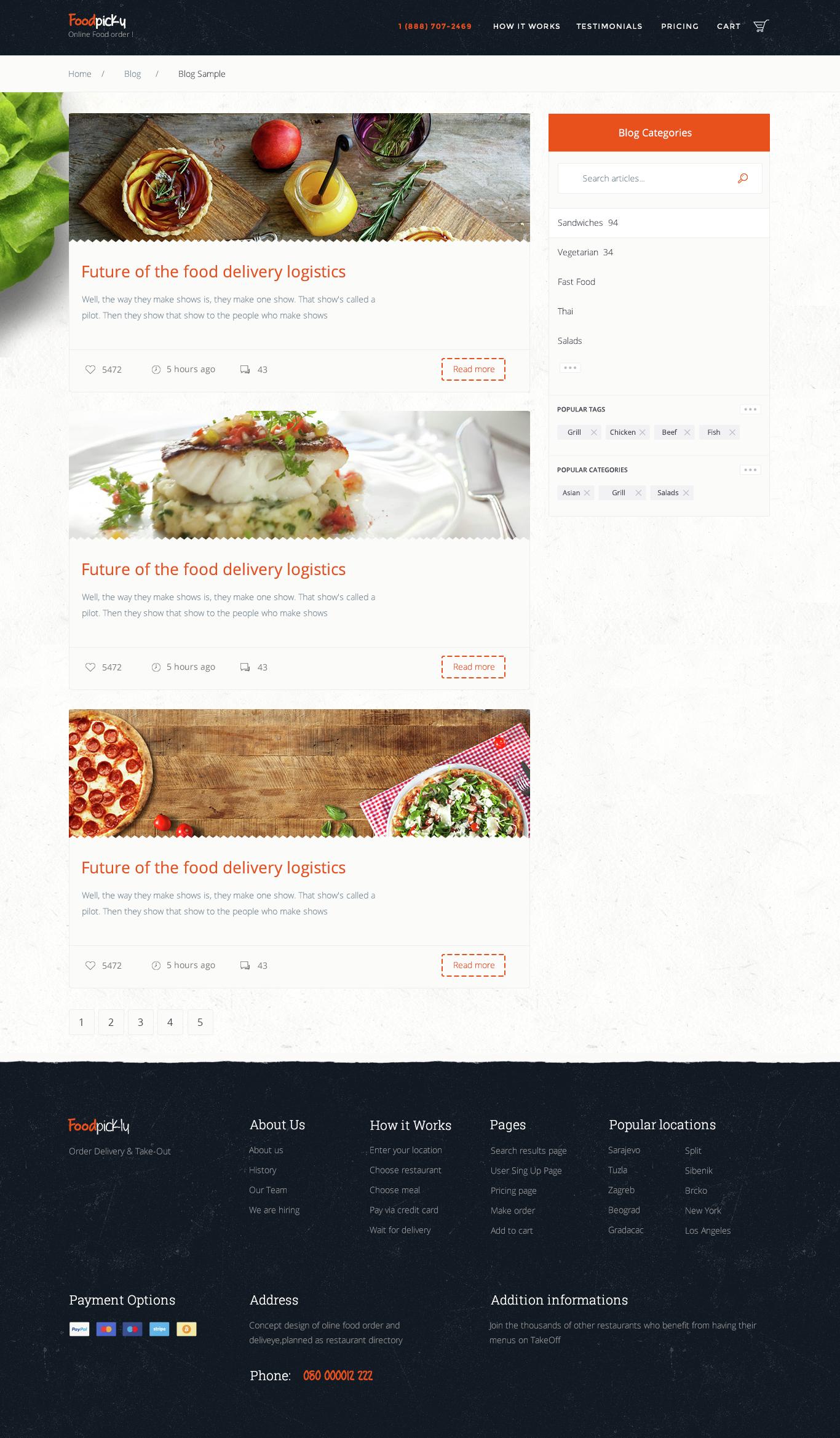 Online Food Ordering From Local Restaurants Restaurants