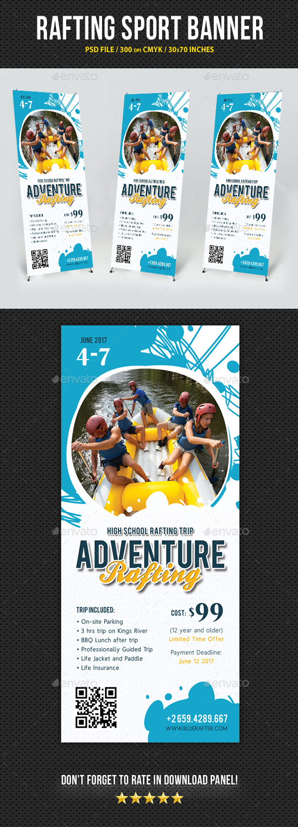 Rafting Banner Sport Template V1 - Signage Print Templates