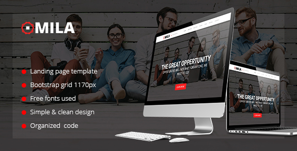 Mila - One Page HTML Template - Business Corporate