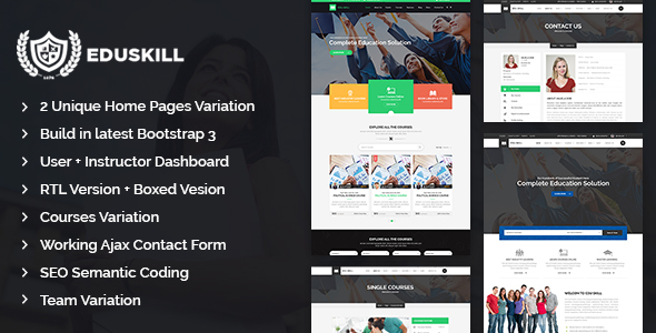 Eduskill – Education LMS Bootstrap Template