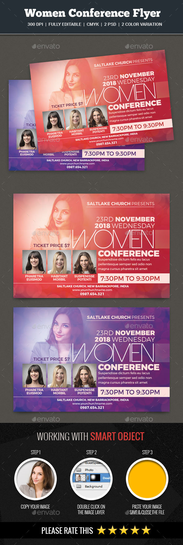 Women's Conference Flyer - Church Flyers