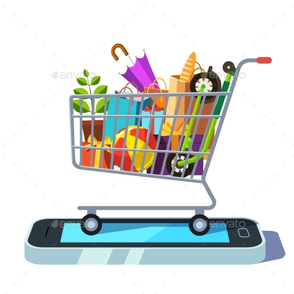 Mobile Retail and Ecommerce Concept - Web Technology