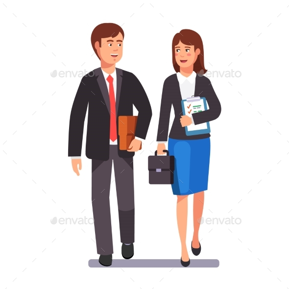 Two Business Professionals Man and Woman - Concepts Business