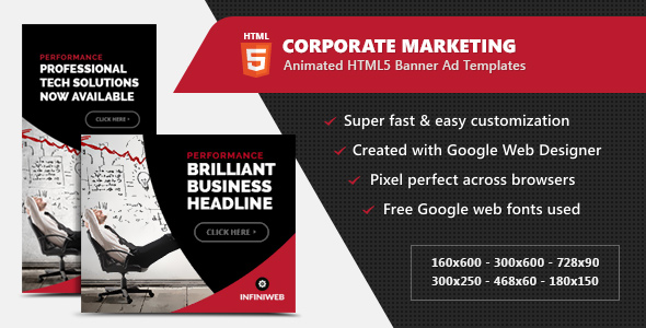 Corporate Marketing Banners - HTML5 Animated GWD - CodeCanyon Item for Sale