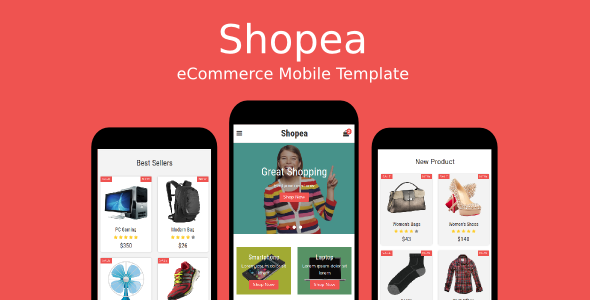 Shopea – eCommerce Mobile Template