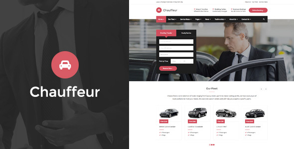 Chauffeur – Limousine, Transport And Car Hire HTML Template