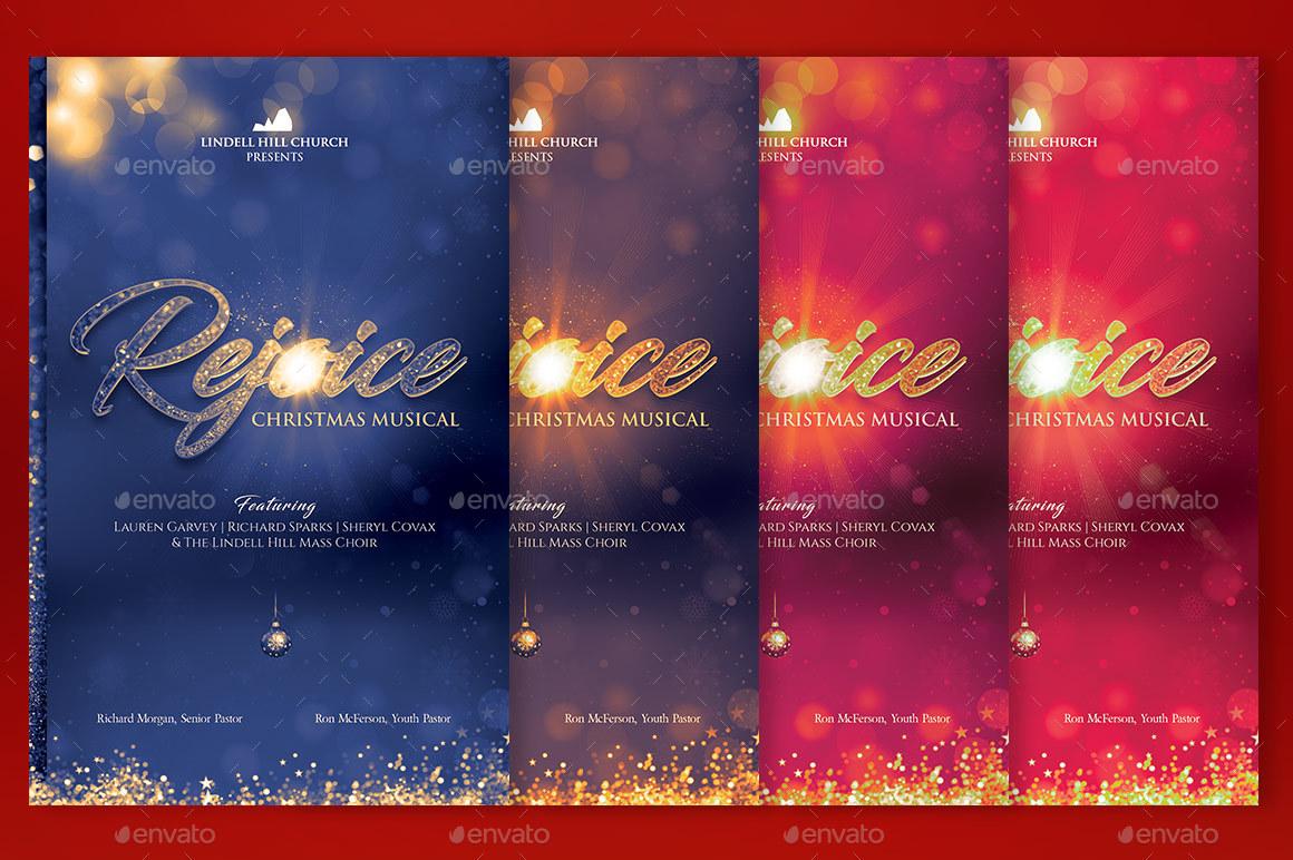 Rejoice Christmas Cantata Program Template by Godserv2 | GraphicRiver