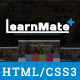 LearnMate - Learning, College, Courses & Education HTML Template Nulled
