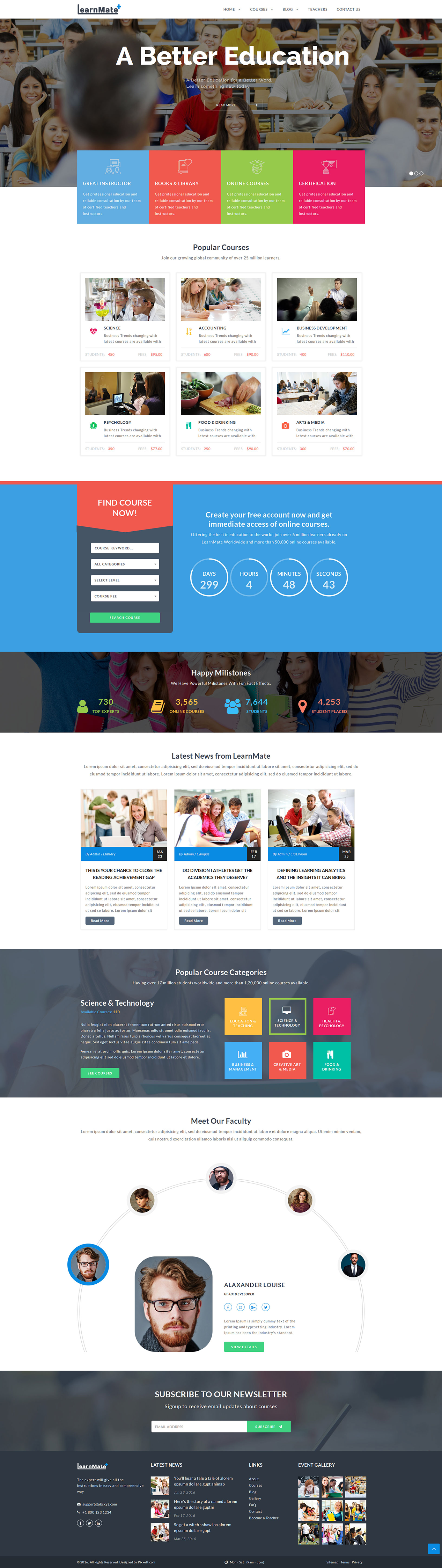 LearnMate - Learning, College, Courses & Education HTML Template ...