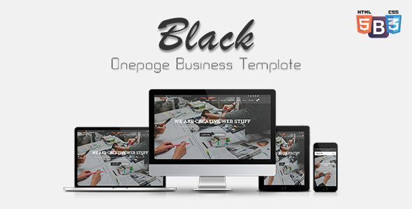 Black – Onepage Business Template