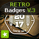 12 Retro Badges / Vintage Labels V.3 - GraphicRiver Item for Sale