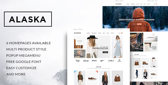 Leo Alaska - eCommerce PSD Template - Retail PSD Templates