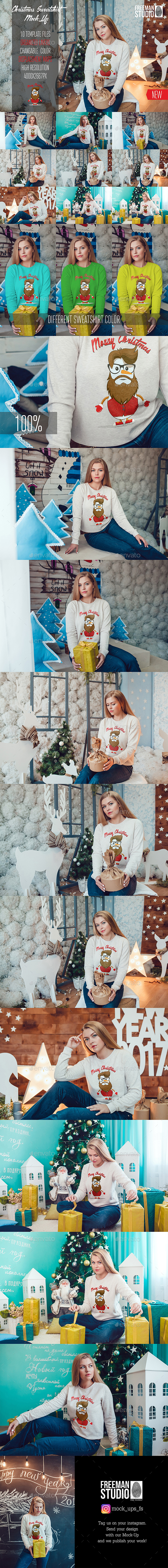 Christmas Sweatshirt Mock-Up Vol.2 - Miscellaneous Apparel
