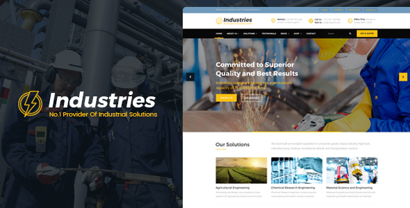 Industries – Factory, Company And Industry Business WordPress Theme