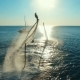 Aerial: Two Men Flying on Flyboard at Sunset - VideoHive Item for Sale