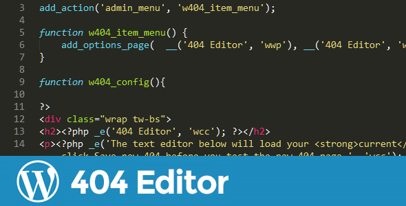 404 Page Editor for WordPress - CodeCanyon Item for Sale