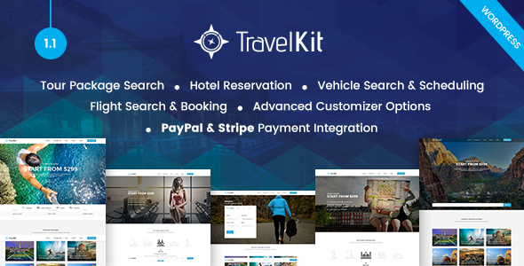 Travelkit – The Full-fledged Tour & Travel WordPress Theme