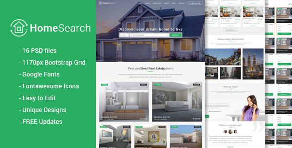 HomeSearch – A RealEstate PSD template