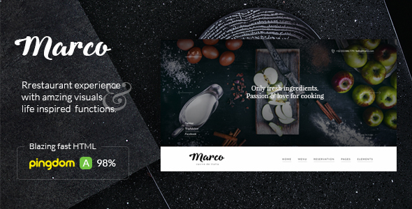 Marco - Modern & Unique Restaurant Template - Restaurants & Cafes Entertainment
