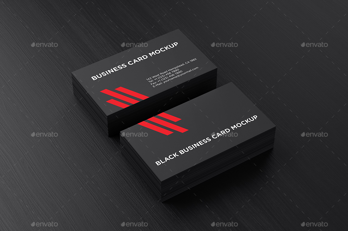 Black Business Card Mockup by aykutfiliz GraphicRiver