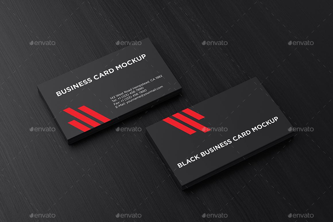 Black Business Card Mockup by aykutfiliz | GraphicRiver