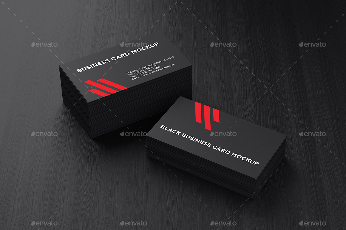 Black Business Card Mockup by aykutfiliz | GraphicRiver