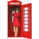 Girl in an English Phone Booth - GraphicRiver Item for Sale